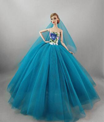 New Genuine handmade princess for barbie doll wedding dress gowns barbie dresses for dolls barbie clothes accessories outfits