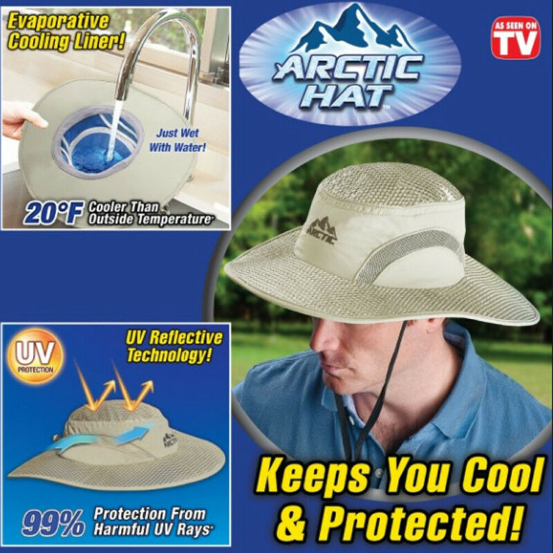 Women Men Unisex Arctic Hat Hydro Cooling Bucket Hat With UV Protection Keep Cooling Protected Caps