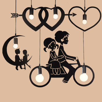 Pendant Lamp Modern Creative Personality Pendant Light Bedroom Restaurant Lights Art Hall Living Room Hanging Lamps for Kitchen