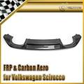 Автомобильный Стайлинг для VW Scirocco (Facelifted) углеродное волокно OEM задний диффузор глянцевое волокно Бампер Добавить на гарнир Авто губы аксес...