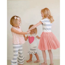 Enfant Kid Girls Children Baby Girls Dress Cute Striped Princess Dresses Kids Toddler T-Shirt Tutu Dress