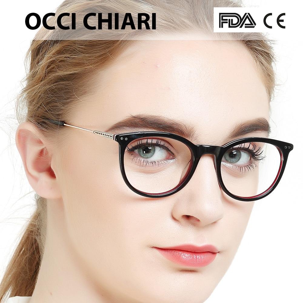 Small frame glassesOCCI CHIARI Women Clear Lens Myopia optical glasses Spectacle Acetate Glasses Prescription Eyewear W-CAMPE