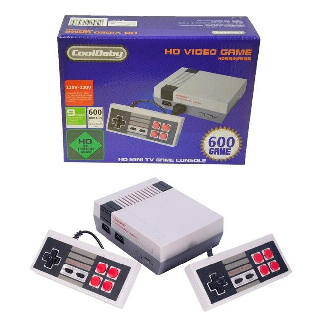 Coolbaby salida HDMI Retro Clásico Jugador Handheld del Juego de la Consola de Videojuegos TV Incorporado 600 Juegos Infantiles Mini Consola HDMI HD