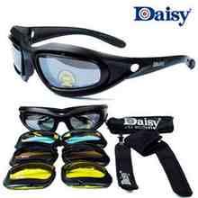 2017 gafas de sol Polarizadas Nueva UV400 Gafas de Daisy C5 o Daisy X7 Puntos de Turismo Caza Al Aire Libre Táctico Gafas de Tiro