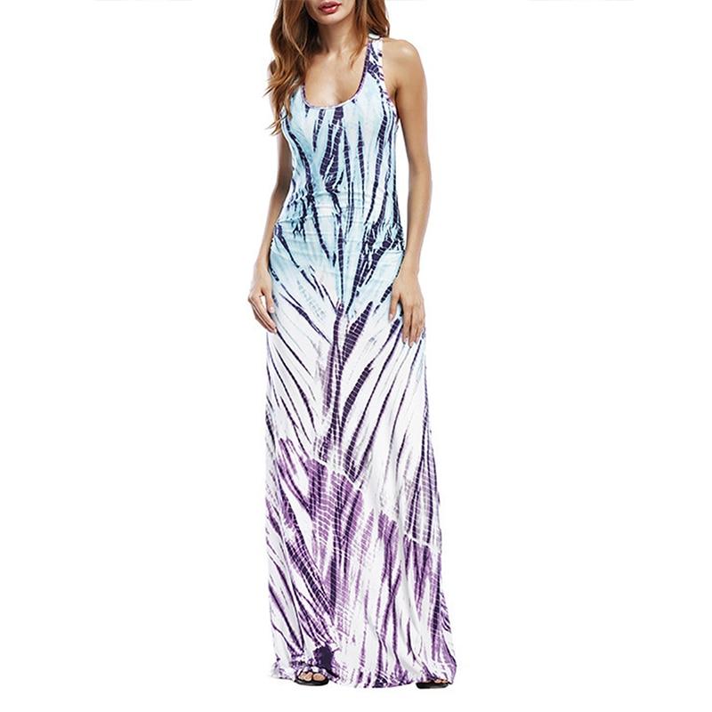 Плюс размер летнее платье женское элегантное платье без рукавов пляжное макси длинные платья Повседневное винтажное модное вечернее плать...