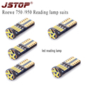5piece/set Roewe 750 950 12VAC car reading lamp canbus led 6000K 4014smd w5w t10 auto trunk Lights dome lamp led reading bulbs