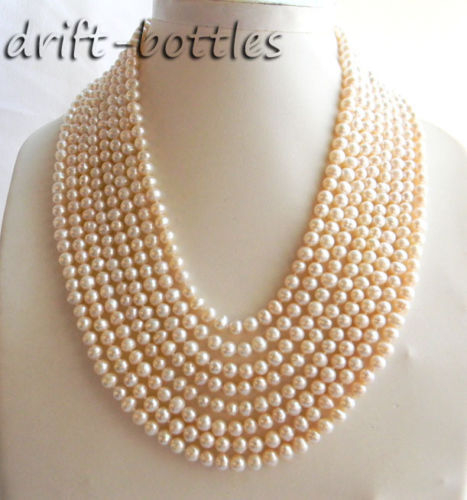 Hot sale new Style >>>   8Strands 18 6mm White Round Freshwater Pearl NecklaceHot sale new Style >>>   8Strands 18 6mm White Round Freshwater Pearl Necklace