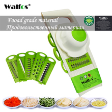 WALFOS Mandoline Peeler Grater Vegetables Cutter with 5 Stainless Steel Blade Carrot Grater Onion Slicer Kitchen Accessories