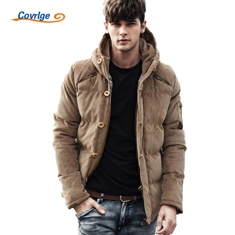 Covrlge 2017 Mens Coats Parkas Corduroy Thick Hood Male Jacket Solid Warm Winter Men Parka Jacket Brand Clothing Overcoat MWM013 free shipping winter parkas men jacket new 2017 thick warm loose brand original male plus size m 5xl coats 80hfx
