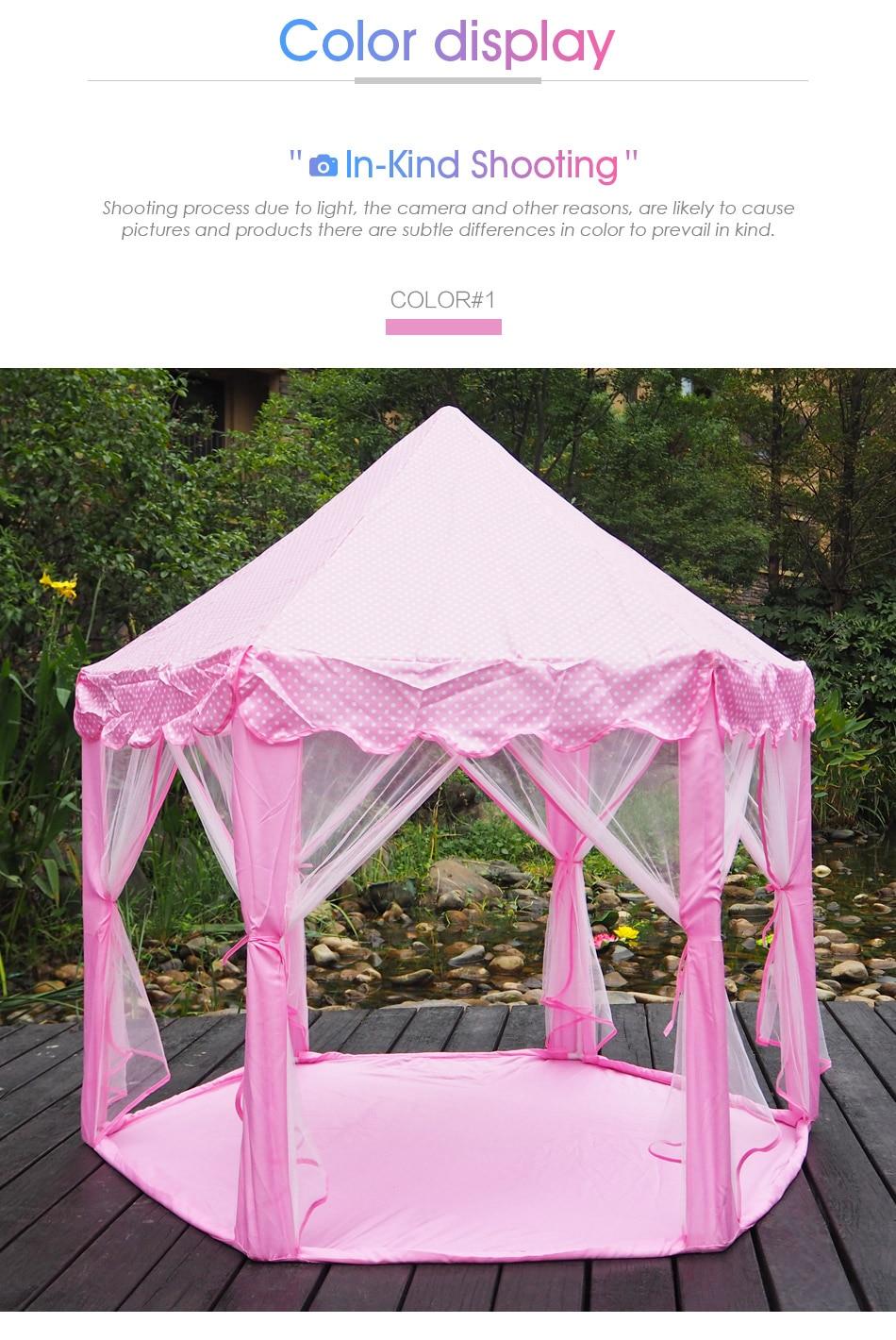 _03 ...  sc 1 st  AliExpress.com & TouchCare Six Angle Pink Princess Castle Gauze Tent House Girl ...