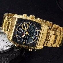 2017 Amuda New Luxury Gold Fashion Sport Men Quartz-Watch Golden Waterproof Digital Male Wrist Watch relogio masculino
