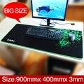 Razer alfombrilla de ratón de gran tamaño, borde de bloqueo de Escritorio mouse pad Gaming Edition Mat 900*400*3 Juegos MousepadMouse Estera Para El Juego