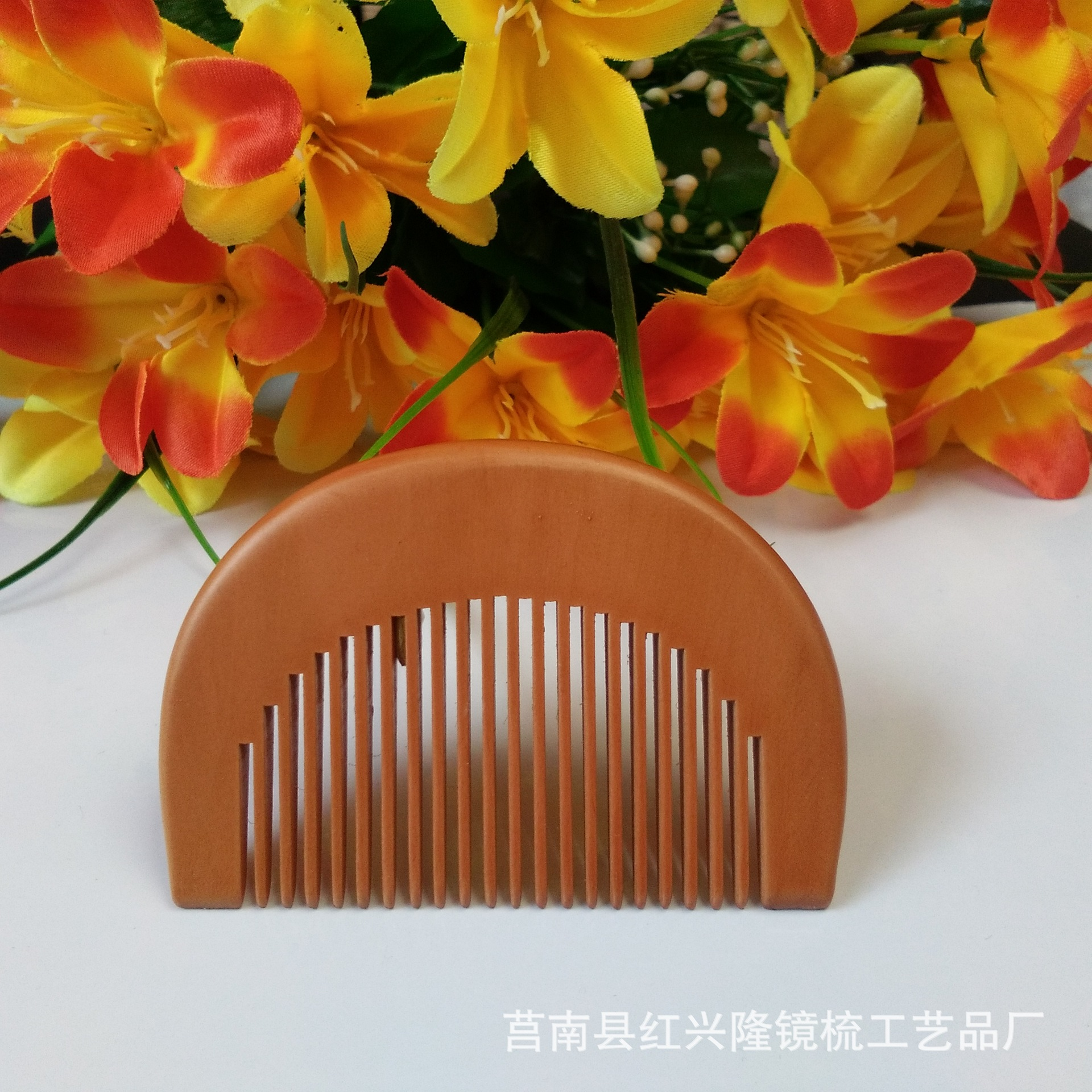 C23 peach wood comb custom LOGO tooth wood comb anti-static peach wood comb c62 anti static peach wood comb sandalwood wide tooth comb hair comb