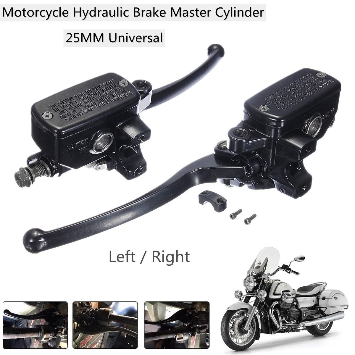 1 Inch 25MM Left Right Universal Motorcycle Brake Master Motorbike Cylinder Hydraulic Pump Clutch Lever universal 14mm 16mm black 7 8 22mm motorcycle front brake clutch master cylinder motorbike hydraulic pump motorbike brake lever
