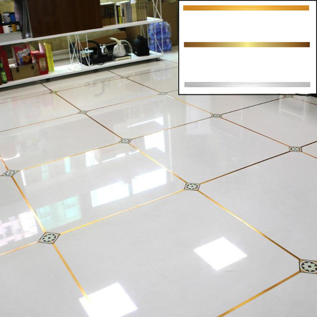Floor Tiles Stickers Waterproof Seam Line Tile Stick Self Adhesive PVC Ceramic Wall Floor Crevice Line Sticker Decoration Tape