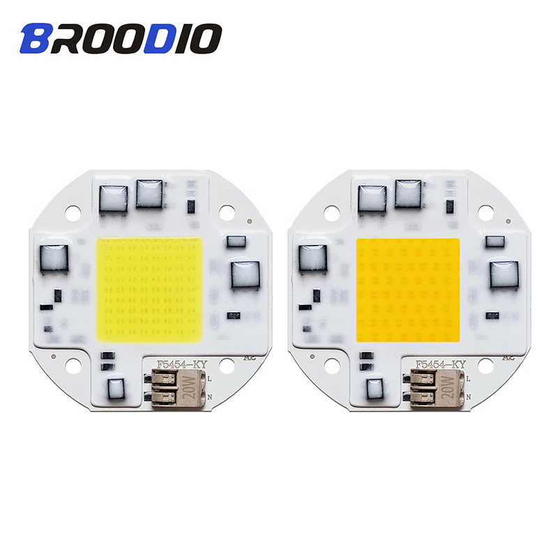หลอดไฟ LED ชิป COB ไฟสมาร์ท IC LED หลอดไฟ AC 110V 220V 20W 30W 50W warm White Lampada Beam Floodlight Spotlight Matrix LED DIY