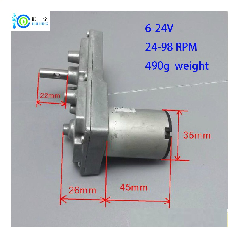 high quality 7 fonts stock motor 6/12/24V DC gear motor with all Metal Gear for Electric curtains or model tanks