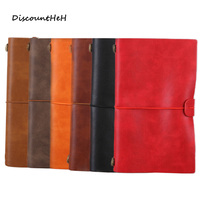 6 Colors Retro Leather Bound Notebook Travel Journal Handmade Memory Vintage Style Notepad School Office Stationery