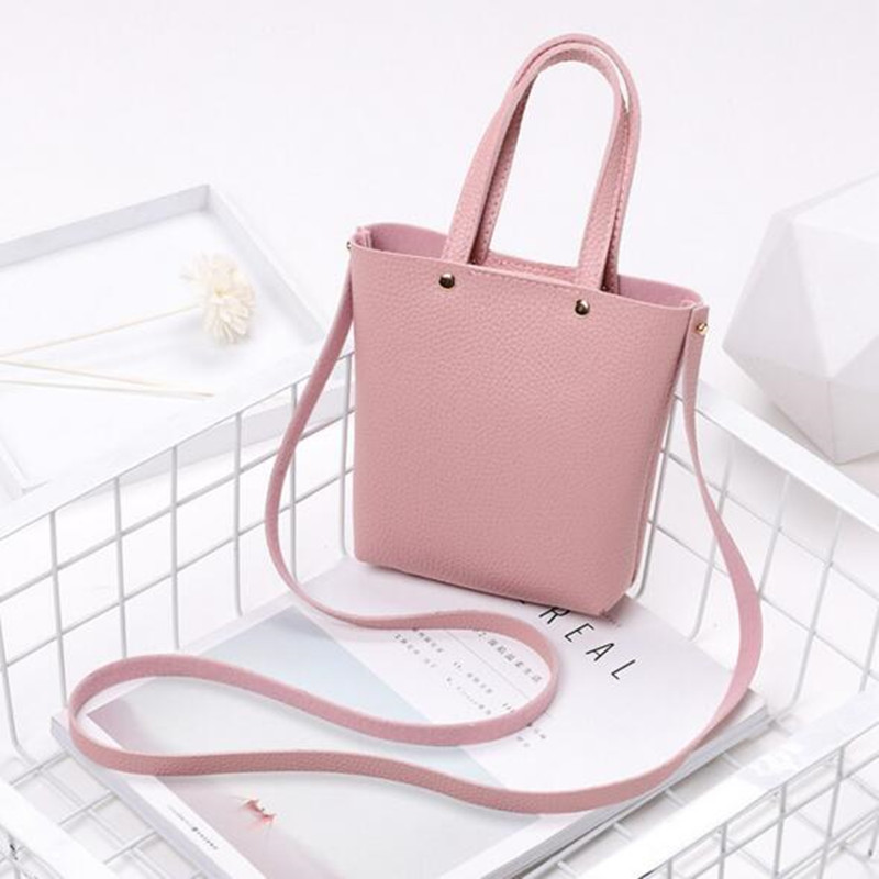 2018 New Women Small Phone Case Fashion Solid PU Leather Mini Shoulder Bag For Ladies Children Crossbody Bags все цены