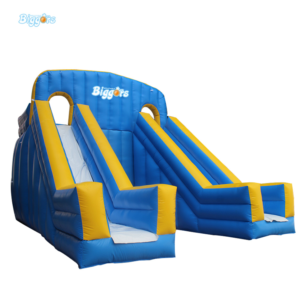 Double Slide Inflatable Bouncy Calstle Combo Water Slide,Bounce House for Kids,Jumping Castle with Air Blower popular best quality large inflatable water slide with pool for kids