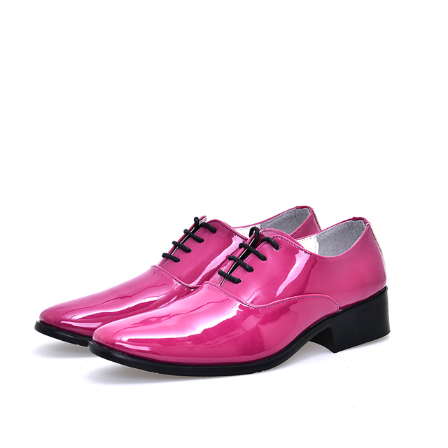 Hombre barato zapatos de boda solid orange rose rojo azul vino tinto ...