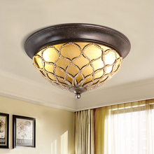 american ceiling lamps country living room bedroom kitchen aisle entrance round crystal glass cover ceiling light za8299