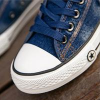 Women Sneakers Casual Canvas Shoes Denim Plus Size 34-44 Summer Female Stars Trainers Ladies Lace-up Basket Femme Tenis Feminino 1