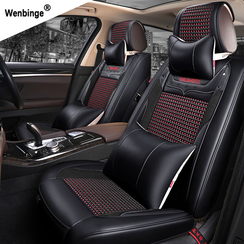 wenbinge Special Leather car seat covers For Cadillac SLS ATSL CTS XTS SRX CT6 ATS Escalade auto accessories car styling sticker