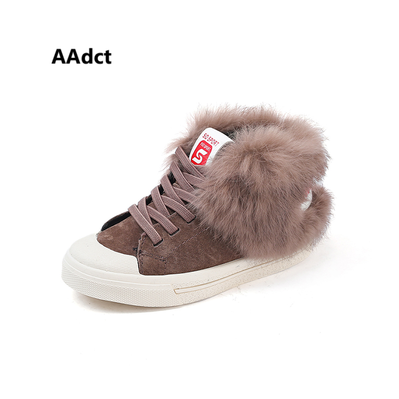AAdct Cotton warm high-top sneakers girls shoes New casual sports kids shoes for boys 2018 Winter running children shoes aadct 2018 new spring autumn casual sports children shoes breathable leather shoes for girls boys soft sneakers kids shoes