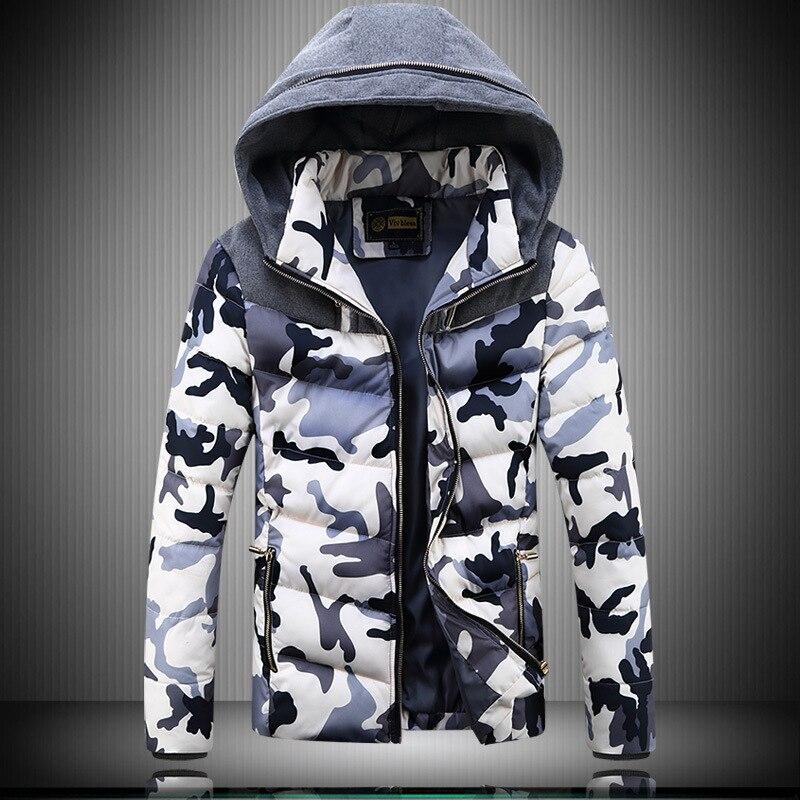 ФОТО Camo Parka For Men XXXXL 2016 Winter Fashion Patchwork Hooded Man Thicken Man coats Plus Size M-4XL Slim Fit Hombre Jackets
