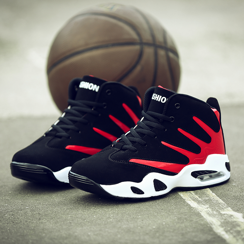 2016 Men Basketball Shoes High-top Sneakers Outdoors Training Athletic Breathable Comfortable Cushioning Sports Shoes цена