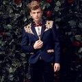 Бесплатная доставка 2015 новых осенью случайные личности пиджак мужской мужской пальто печати куртка человек моды plussize костюм FanZhuan 14038