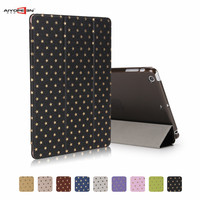 for ipad case mini 1/2/3 7.9 inch with retina display pu leather smart auto sleep+matte transparent pc back cover