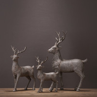 Nordic Style Resin Elk Figurines furnishing articles originality family of three deer example room Home decoration Gifts Crafts