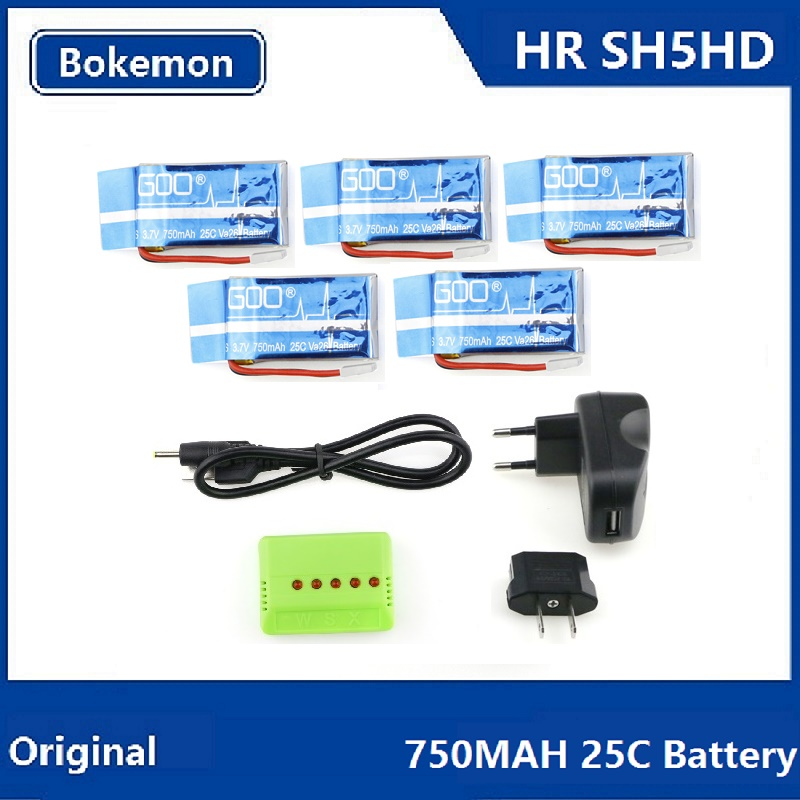 HR SH5 SH5HD RC Quadcopter Spare Parts 750mah 25C Battery (Buy 5 sets 25% OFF)