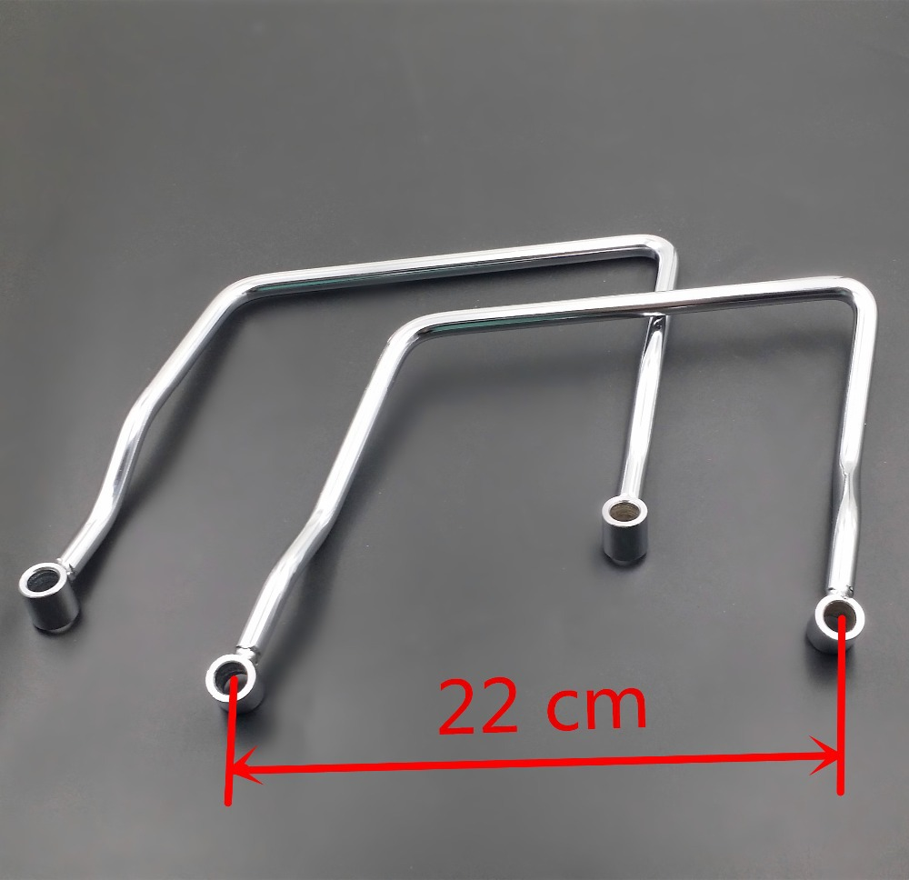 22 cm Saddle bag Support Bar Mount Bracket For Yamaha VN VT VTX Suzuki Custom Cruiser Chopper Cafe Racer Standard Bike 22 bobber cafe oldschool chopper