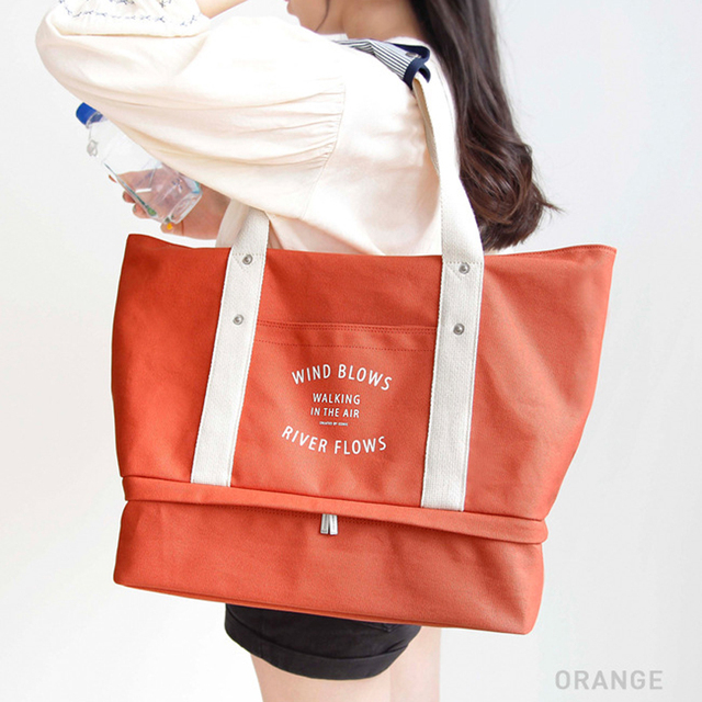 Gym Bag Shoulder Crossbody Bag Oversized Canvas Storage Shoe Mummy Bag
