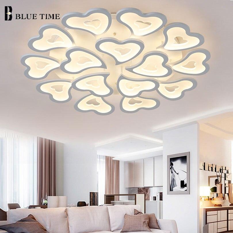 White Modern Led Ceiling Light Fixtures For Living Room Bedroom Acrylic Led Ceiling Lamp Lustres Led Home Lighting AC110V 220V .