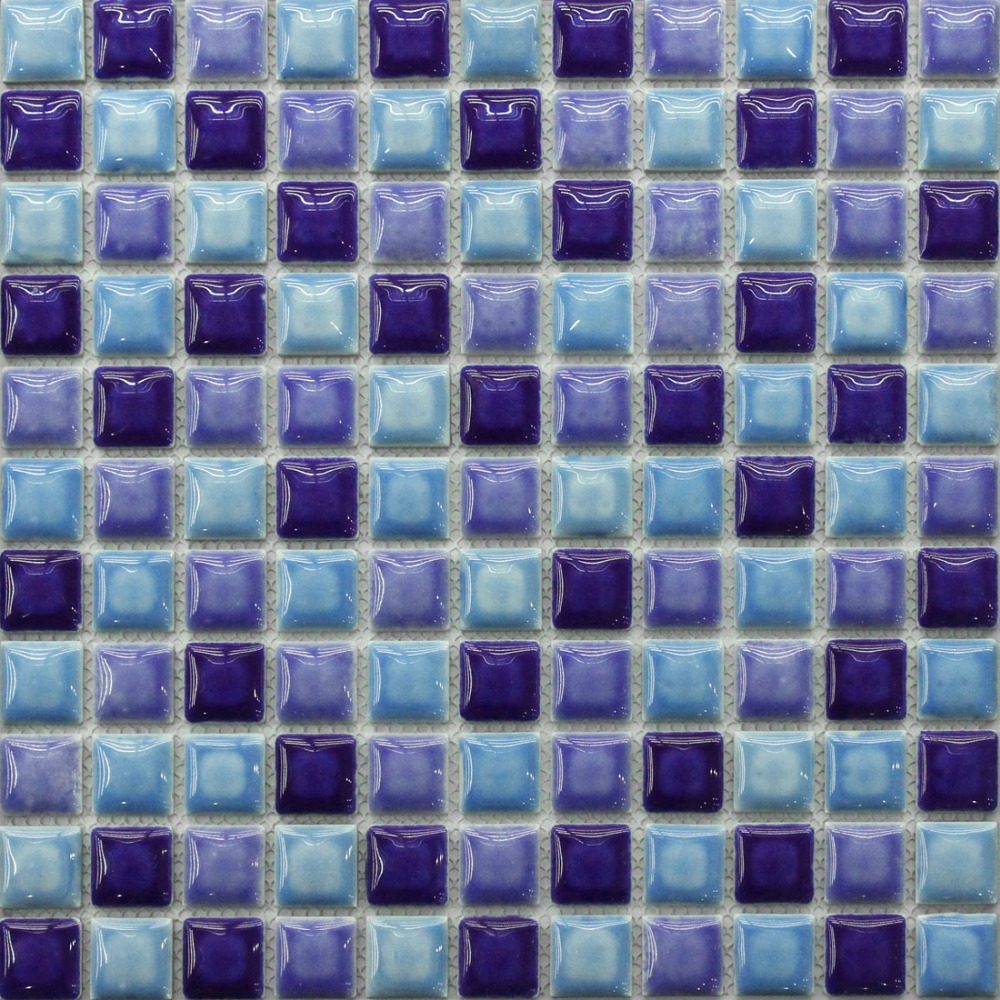 blue ceramic mosaic tile kitchen backsplash tile bathroom wall tiles ...