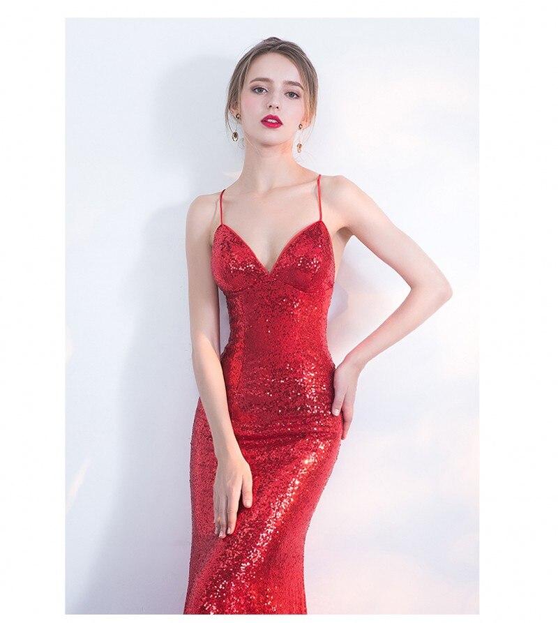 ΝΕΟ Designer Κόκκινο Sequin Φόρεμα Party Party - Ειδικές φορέματα περίπτωσης - Φωτογραφία 5