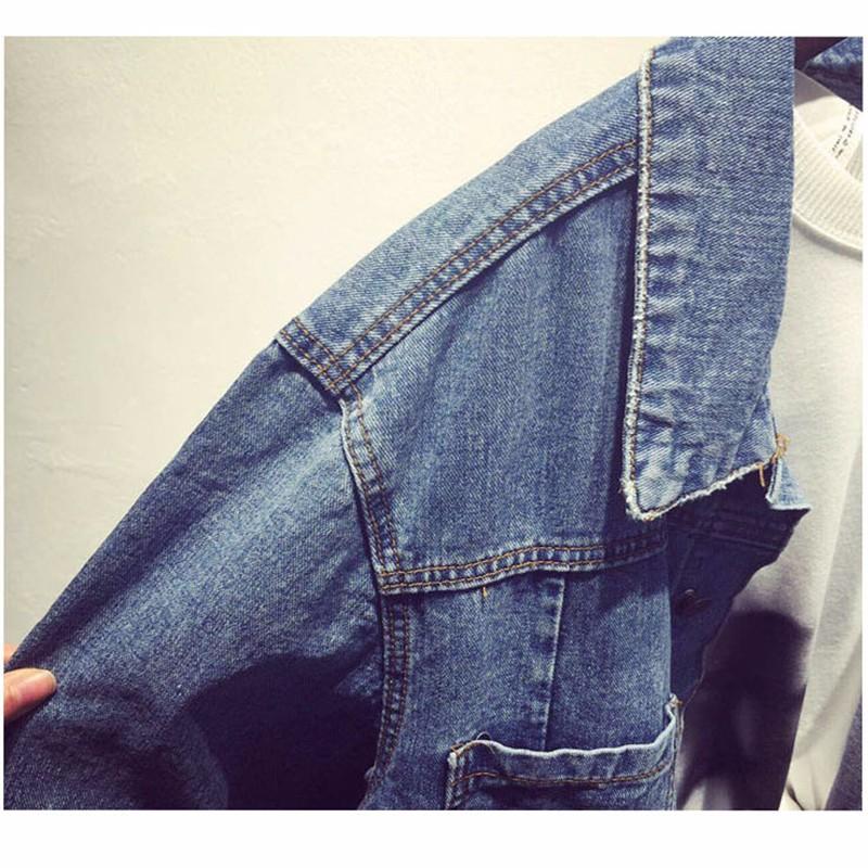 Women Jean Jacket Hot Sale Casual Popular Autumn Regular Coat Korea Girls Loose Outwear Simple Fashion Women\'s Clothing Cheap (8)