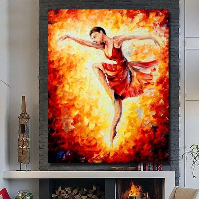 New Design Modern Dance Girl Oil Paintings Home Decoration Wall Art ...