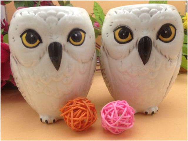 Free shipping Hedwig Owl Mug Ceramic Mug Coffe Cup 2017 new arrive cute limited collection 1