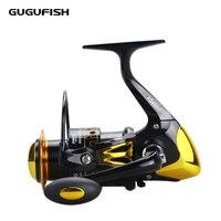 GUGUFISH Metal Spool Spinning Reel  2000 - 9000 Series Fish Salt Water Fishing Reel Pesca Wheel 12+1 Ball Bearing 5.5:1