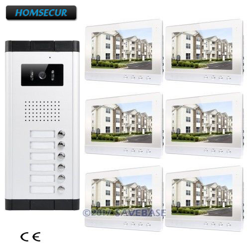 HOMSECUR 10.1 Wired Video Door Entry Call Intercom+Lock Release Button for Secure Home