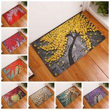 Alfombra de ducha antideslizante con estampado de flores Vintage alfombra de baño alfombrillas de alfombra de baño decoración del hogar alfombra de suelo