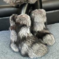 Micholediys/2018 Новое поступление ручной работы зимние сапоги с лисьим мехом женские теплые бархатные Оригинальные кожаные боты