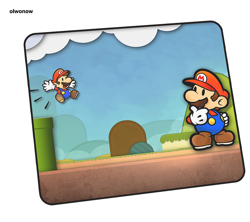 Mario Mouse Pad Cute 30x25cm Mousepads Best Gaming Mousepad Gamer Mass Pattern Personalized Mouse Pads Keyboard Pc Pad