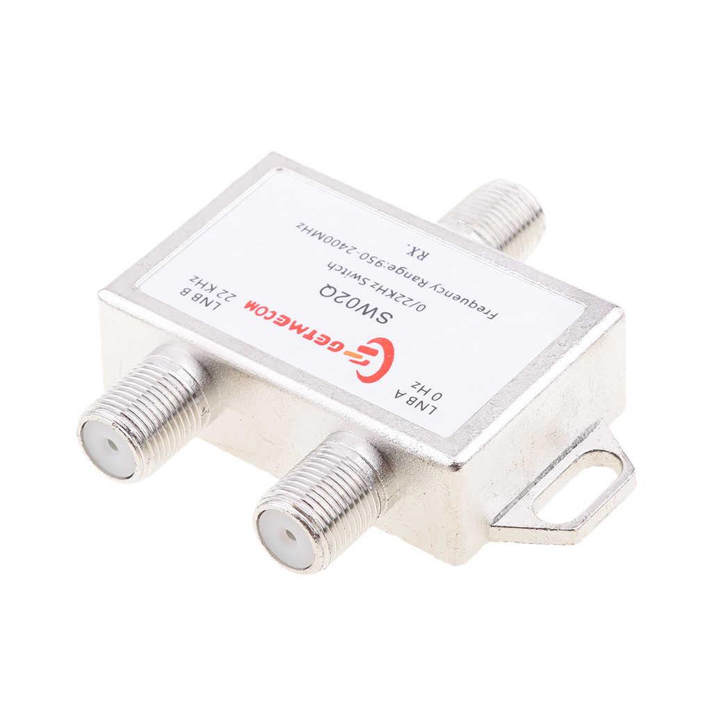 2x1 DiSEqC LNB тон Спутниковое Multi FTA Коммутатора 0/22 кГц LNBF Мульти Переключатель
