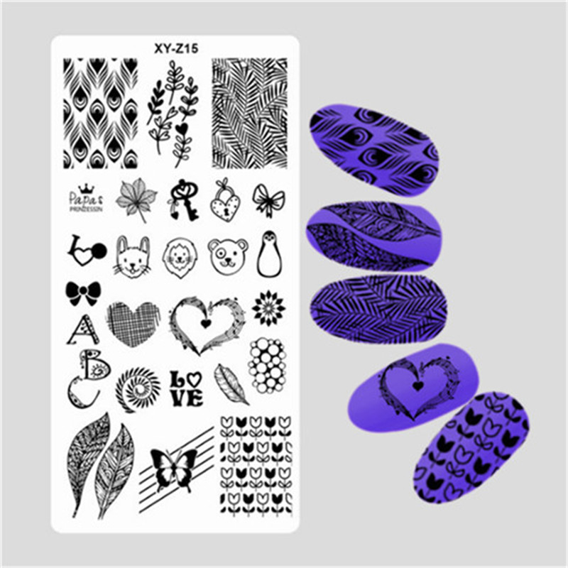 2017 Fashion DIY Nail Latest 32 Styles Art Stamp Template Image Plates Polish Stamping Decal Feature 10pcs nail art stamping printing skull style stainless steel stamp for diy manicure template stencils jh461 10pcs